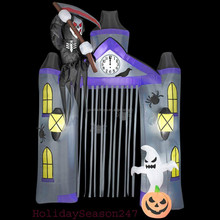 inflatable Lighted Reaper Archway Halloween Inflatable Yard Prop Decor
