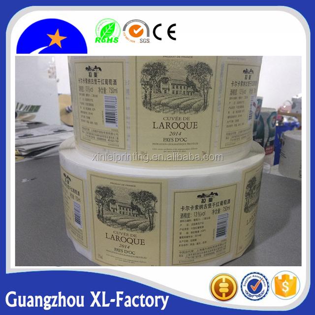 Destructible adhesive label paper, fragile security labels, Custom Destructive Warranty Sticker Brittle