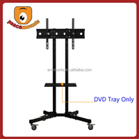 With DVD Tray great stability, security, flexibility and durability for 70 inches mobile tv bracket with shelf