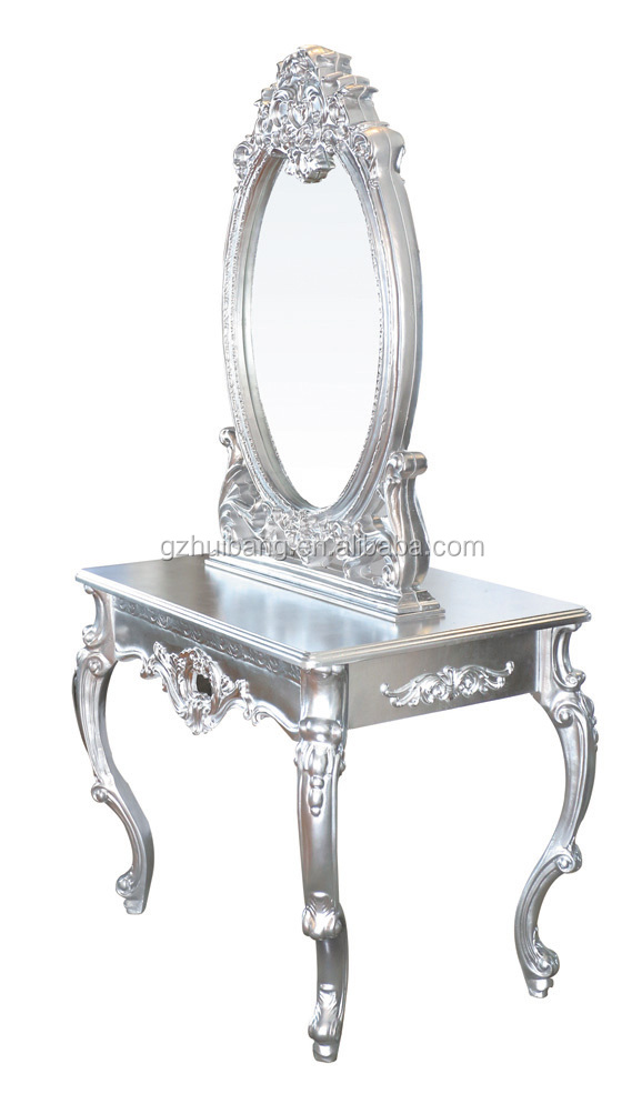 2016 new design european style silver salon mirror double mirror station /unit for sale HB-B343-B2