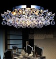 fashion led crystal ceiling lamp,luxury round ceiling lamp,k9 crystal lamp
