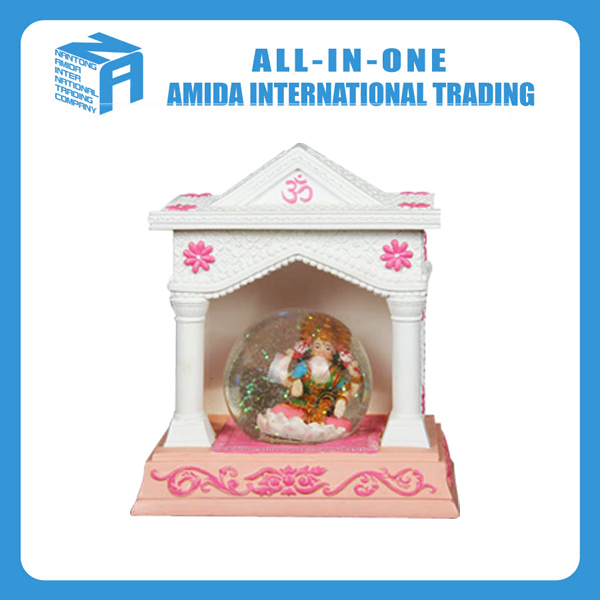 Creative home crystal ball snowflakes music box religious souvenirs