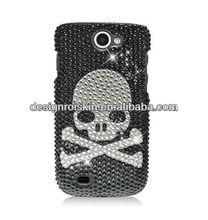 skull designs plastic cell phone case for Samsung Exhibit II 4G T679 full CS case