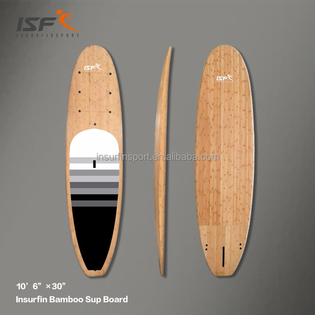 New design OEM wholesale EPS foam Fiberglass Epoxy 10'6 Bamboo cheap stand up paddle surf board yoga sup board paddle wooden
