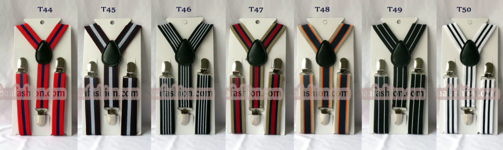 Wholesale Kids Suspender Clip-on Y-Back Boys & Girls Children Elastic Suspender Factory Sale 29 Colors Wedding Hot Sell