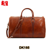 custom genuine leather travel bag mens leather duffle bag