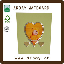 love shape photo frame mounting board