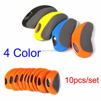 10pcs/set Multi Color Neoprene Golf Head Cover Club Iron Putter Head Protector Golf Clubs