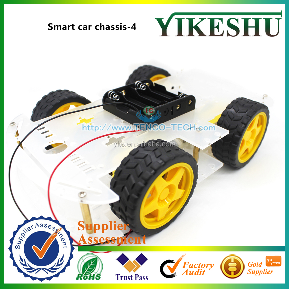 (Factory Price) Smart car chassis 4, robot chassis, 4WD, 4 wheel drive force chronological, belt the code disc, tachometer