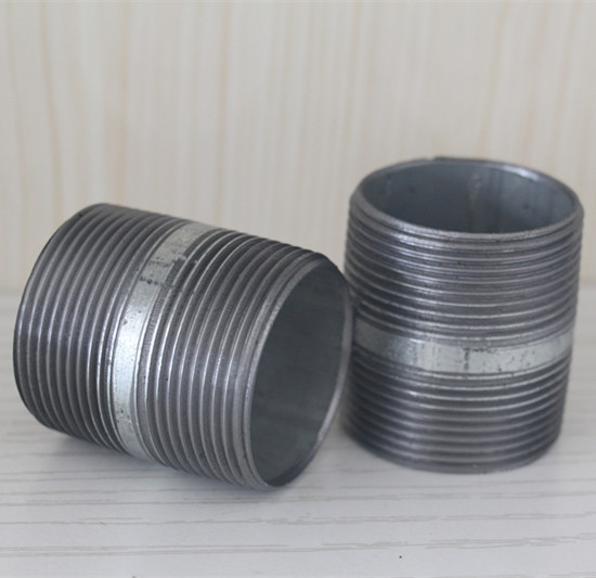 ASTM/ANSI carbon steel black half pipe nipple seamless steel pipe nipple factory price