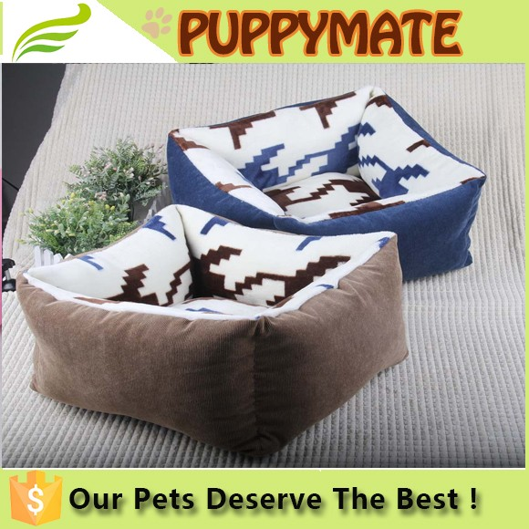 Puppy dog /cat comfortable washable non-slip soft lucky pet bed for small animals