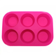 Factory direct DIY cake mold large 6 even round silicone mold baking tools