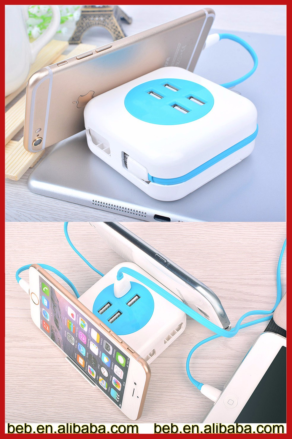Manufacture Flat USB Wall Charger For iPhone Charger Adaptor