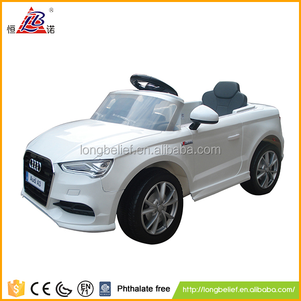 2.4G 12V high quality white or black or red ride on rc car toy with MP3 for children