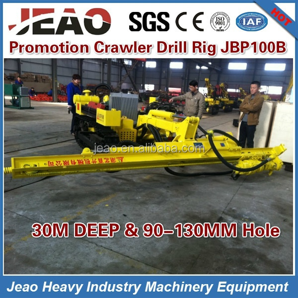100% Original 30m Deep Hole Open Air Mountain Crawler Mining Rotary Auger Underground Mine Drill JBP100B