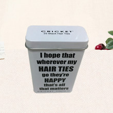 Hot sale cosmetic hair band packaging tin box with hinge lid