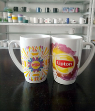 12oz belly shape lipton ceramic tea mugs promotional wholesale