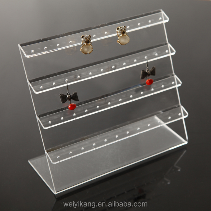 custom AcrylicJewellery Earring Display ,Clear Acrylic Drop Earring Jewellery Display stand