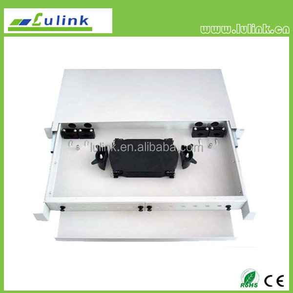 1U 19'' inch 12 Port Fiber Optic Patch Panel, 12 Port ODF