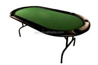 cheap casino texas Holdem oval poker tables with metal legs and plastic cup holder