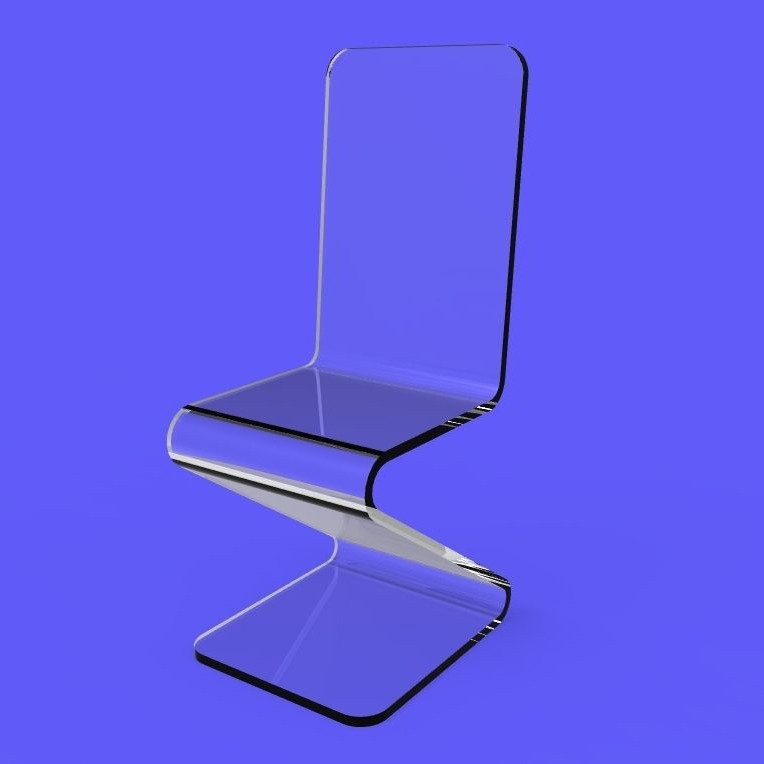 Stylish Furniture Colored Acrylic Chairs Hot Bending Cheap