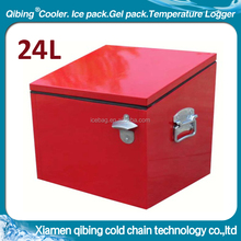 metal material recyclable win can cooler box vintage coolbox