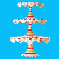 Christmas Stacking Cupcake or Cake Pedestal Stands / Plates