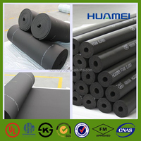 rubber foam pipe insulation/rubber foam sheet
