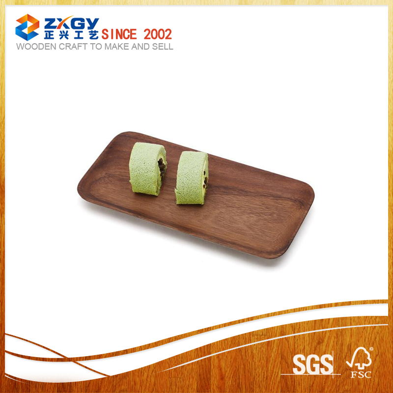 hot in Alibaba 2017 walnut wooden food tray