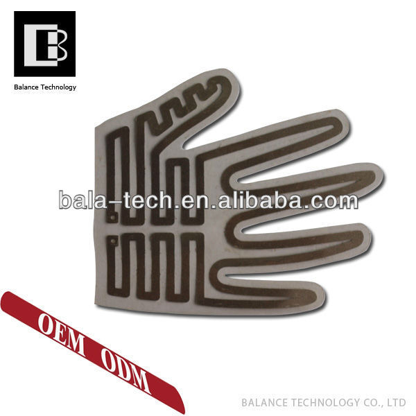 Factory manufacture Flexible instant water heating element for gloves
