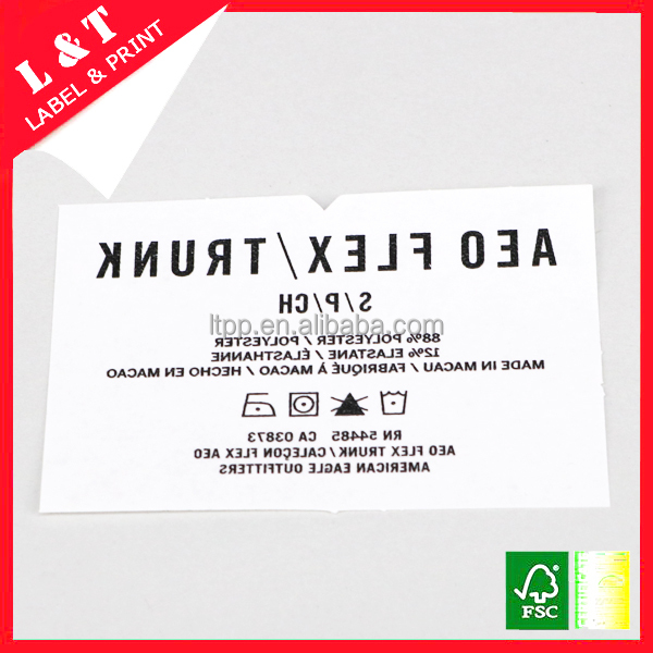Garment label glossy heat transfer paper
