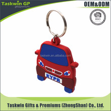 Gift Items Metal Key Chain soft PVC car shaped Keychain with Art Printed