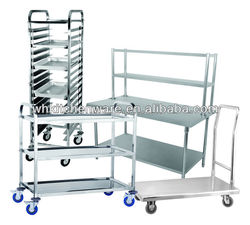 Commercial multilayer hotel food stainless steel trolley