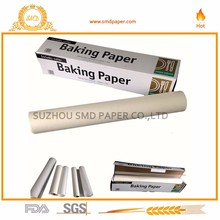Non stick silicone coated baking parchment paper roll