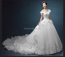 C71686A 2016 ball gown wedding dress with sweetheart neckline