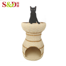 New style handmade small rattan animal house pet cage for sale