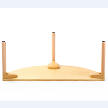 Export North America eco friendly crescent-shaped up to 6 kids wooden kindergarten school table