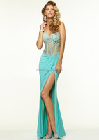 Sexy Sweetheart Appliques Beading Chiffon cheap mermaid prom dresses FXL-794