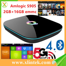 2016 Hot Selling Quad Core Tv Box Qbox OS Android5.1 Amlogic S905 with KODI 16.0 qbox hd receiver