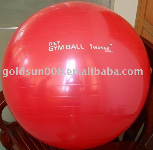 pvc <strong>eco</strong> anti burst 65 CM gym ball exercise bounce