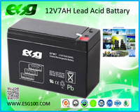 Security system 12v7ah Solar battery maintenance free AGM inverter battery