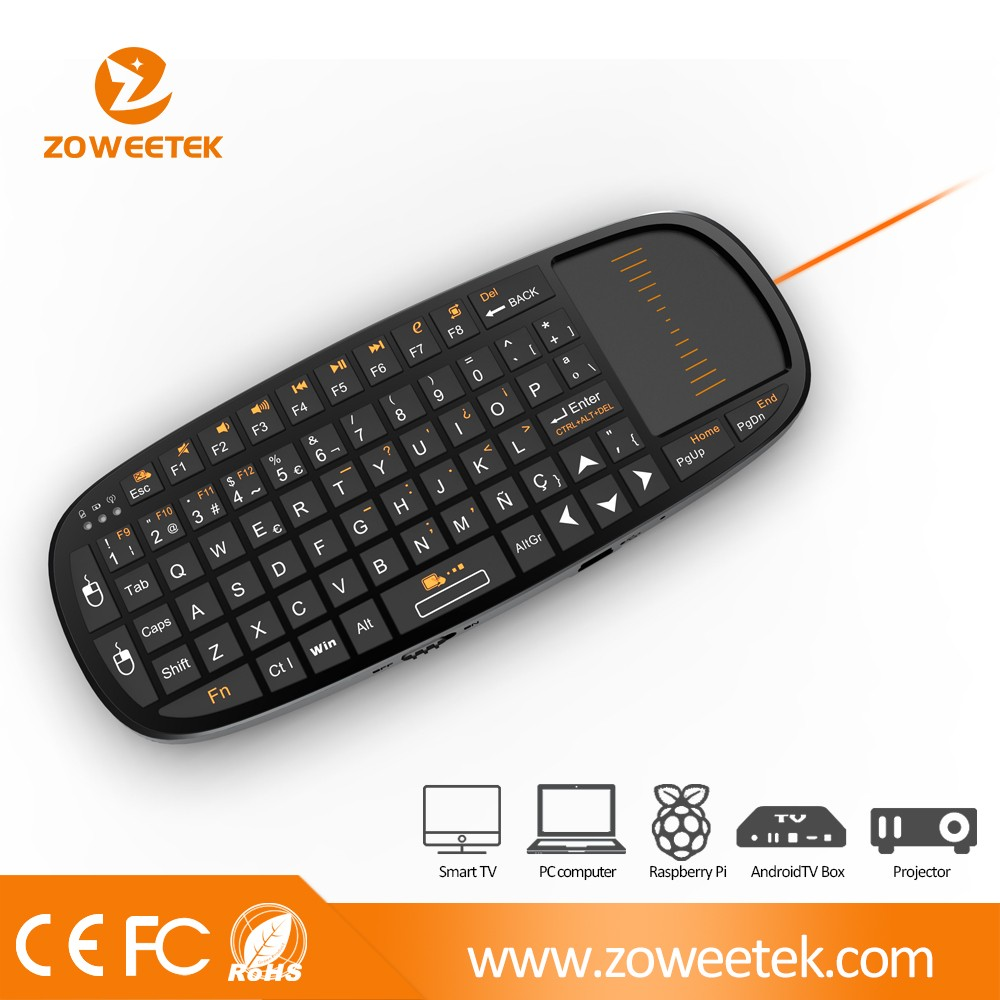 mini wireless keyboard with trackball mouse for android