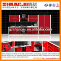 Modern Red Metal Kitchen Cabinet and cupboard