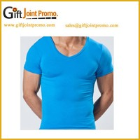 Promotional O-neck Men's T shirt, Short Sleeve Solid Color 100% Cotton Plain t-shirts, Casual unisex T shirt