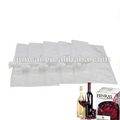 Spout top bib bag in box with dispenser wine bag with tap