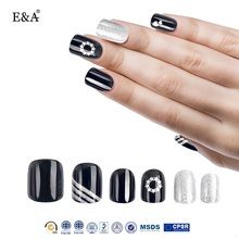 EA Brand 12pcs false nails imported ABS material french nail tips