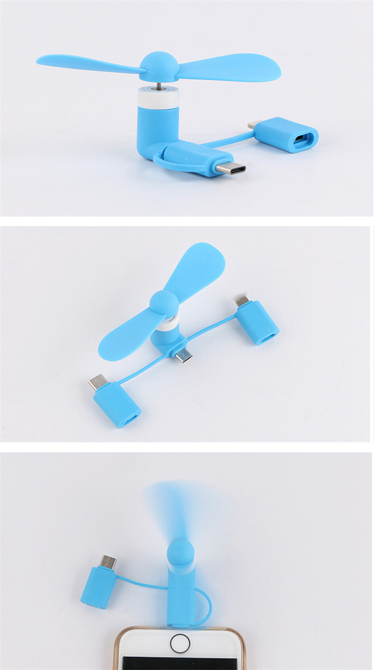 Best for gift  usb cell phone fan wholesale 3 in 1 fan usb phone