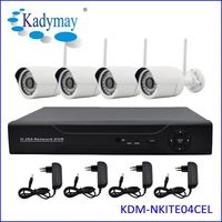 Complete 4CH 720P Night Vision RoHS security camera system wireless outdoor