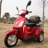 3 wheels electric powered 150cc cruiser motorcycle big wheel mobility scooters for old people