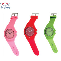 2017Bosheng: (8567) silicone slap wristband watch for mens women ladys Watch